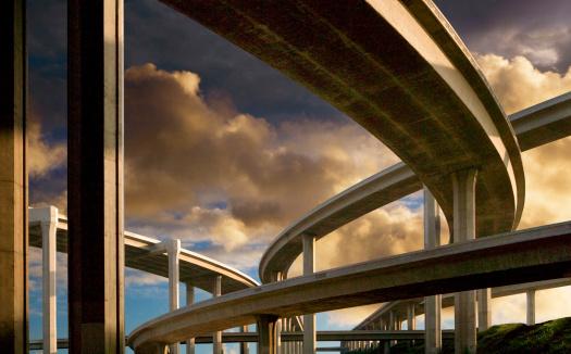 City Of Los Angeles「Freeway at Sunset」:スマホ壁紙(0)