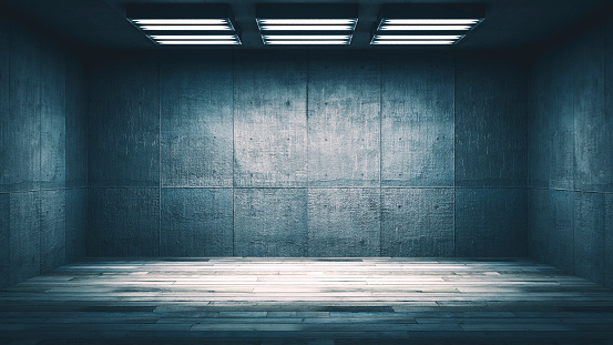 Basement「Dark, spooky, empty office or basement room」:スマホ壁紙(5)