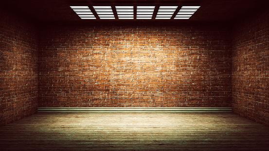 Basement「Dark, spooky, empty office or basement room」:スマホ壁紙(1)
