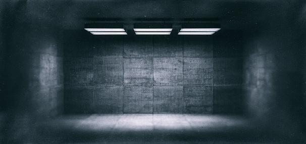 Grunge Image Technique「Dark, spooky, empty office room」:スマホ壁紙(1)