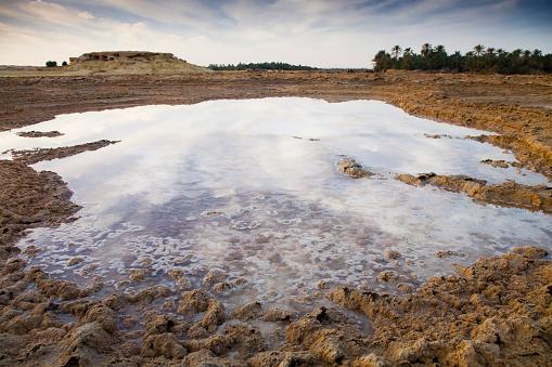 El Siwa「Salt Water Sitting In A Dry Desert Field Outside The Town Of Siwa At The Siwa Oasis; Siwa Egypt」:スマホ壁紙(14)