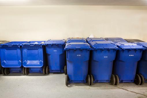 Waste Management「Rows of Recycling Bins」:スマホ壁紙(18)