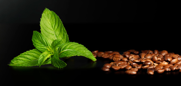 Mint Leaf - Culinary「Mint and coffee beans」:スマホ壁紙(5)