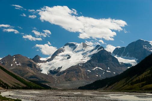 サンワプタ川「Mount Athabasca with Sunwapta River」:スマホ壁紙(8)