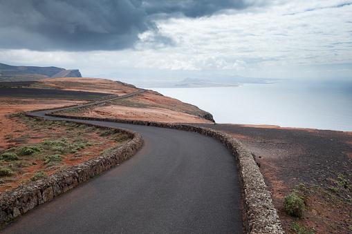 Volcanic Landscape「Winding empty coast road.」:スマホ壁紙(1)