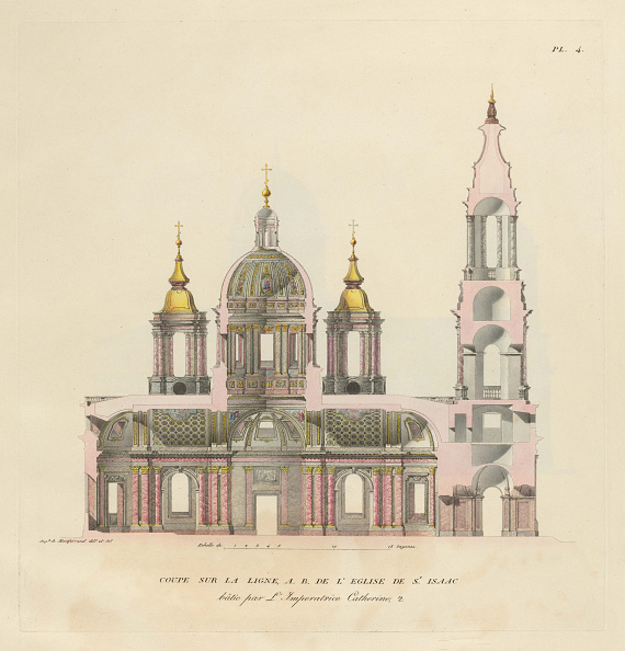 Architecture「The Saint Isaac's Cathedral, 1820」:写真・画像(7)[壁紙.com]