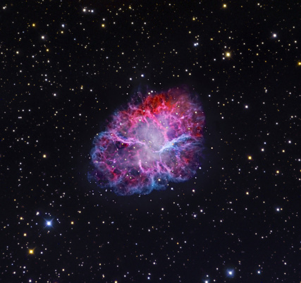 Supernova「The Crab Nebula. The Crab supernova remnant represents the remains of a shattered supergiant star that met its explosive end in the year 1054.」:スマホ壁紙(8)
