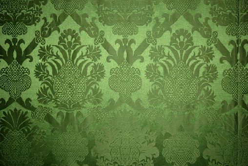 Velvet「Old vintage green wallpaper texture」:スマホ壁紙(2)