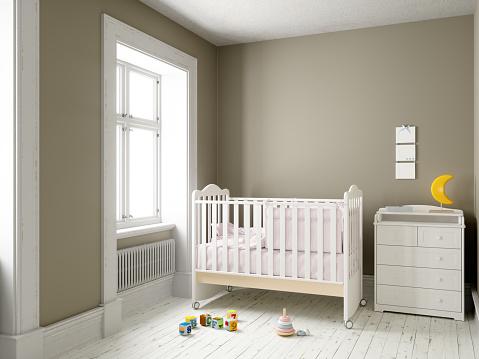 Drawing - Art Product「Modern nursery room with blank frame」:スマホ壁紙(13)