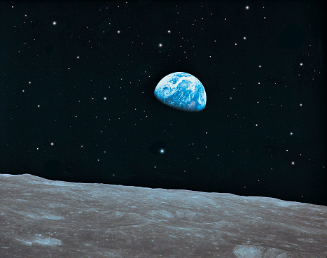 Moon「Earth and Lunar surface」:スマホ壁紙(5)