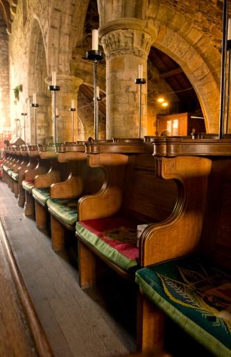Singer「Pews in a church, Iona, Scotland」:スマホ壁紙(8)