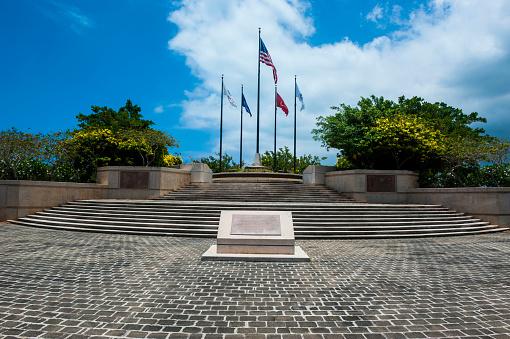 Northern Mariana Islands「National flags in American Memorial Park, Saipan, Northern Marianas」:スマホ壁紙(11)