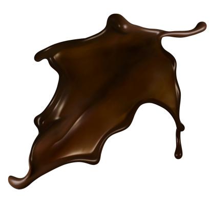 Chocolate「Chocolate splash on white background」:スマホ壁紙(9)
