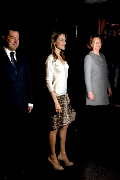 Gray Skirt「Princess Letizia of Spain Attends the Launch of 'Mision 60  Aniversario' Campaign Against Cancer」:写真・画像(12)[壁紙.com]