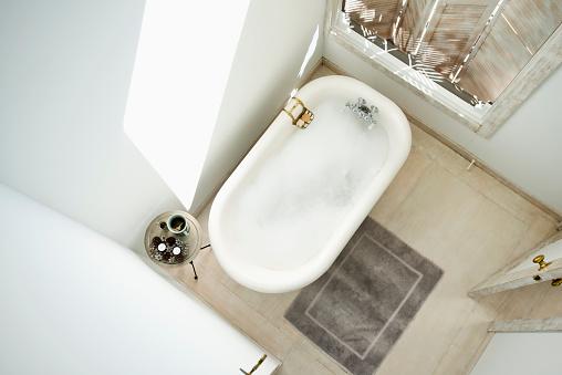 Anticipation「High angle view of bubble bath in bathroom」:スマホ壁紙(11)