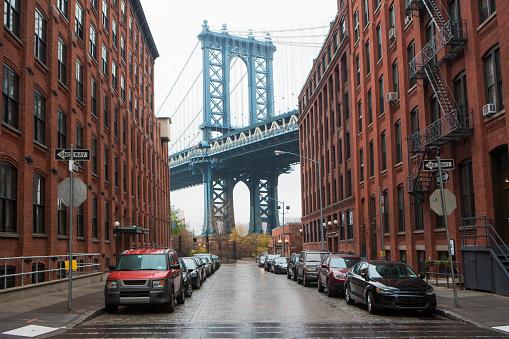 Archival「Manhattan Bridge and Dumbo Brooklyn, warehouses」:スマホ壁紙(10)