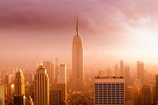 Atmosphere「NYC Skyline at Sunset」:スマホ壁紙(7)