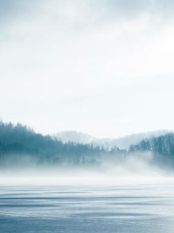 Cloud - Sky「Lake In Winter」:スマホ壁紙(14)
