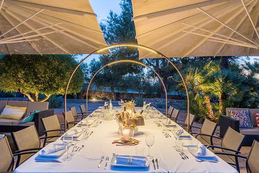 Party - Social Event「Elegant table for dinning at sunset」:スマホ壁紙(8)