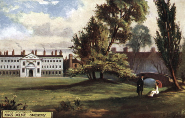 Grass「Cambridge University - view of  King's College in the late 1800 's.  Man in black academic gown talking to a lady seated on the grass, parasol in hand.」:写真・画像(17)[壁紙.com]