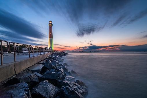 Pier「Sunset over Barnegat Lighthouse」:スマホ壁紙(13)