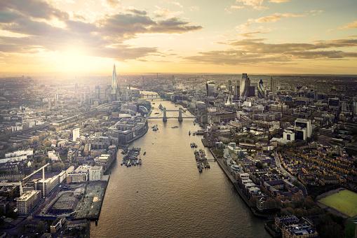 London Bridge - England「Sunset over Tower Bridge and the Thames」:スマホ壁紙(17)