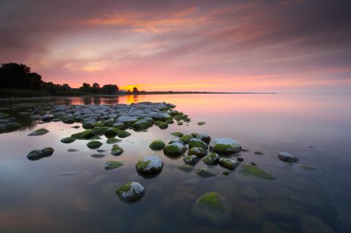 Shallow「Sunset over lake Peipsi, Estonia, August」:スマホ壁紙(3)