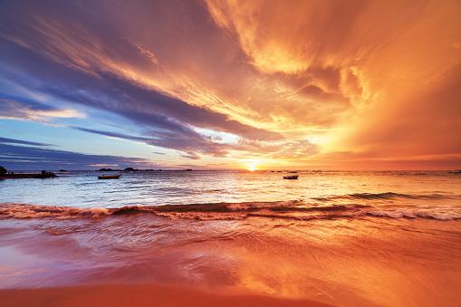 Indian Ocean「Sunset over Indian ocean」:スマホ壁紙(6)