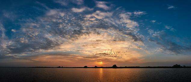 Flock Of Birds「sunset over the lake」:スマホ壁紙(17)