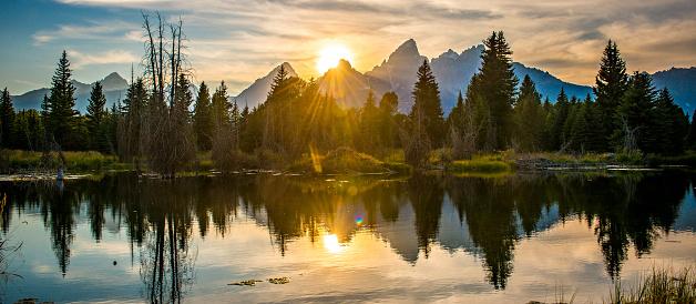Dramatic Landscape「Sunset over Tetons」:スマホ壁紙(12)