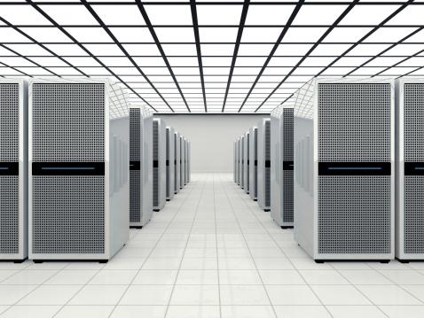 Data Center「Data center in a large bright room」:スマホ壁紙(5)