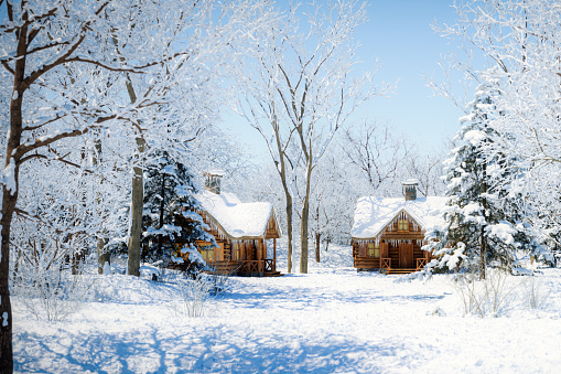 Chalet「Winter Wonderland」:スマホ壁紙(3)
