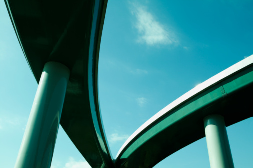Architectural Column「Elevated roads, low angle view」:スマホ壁紙(7)