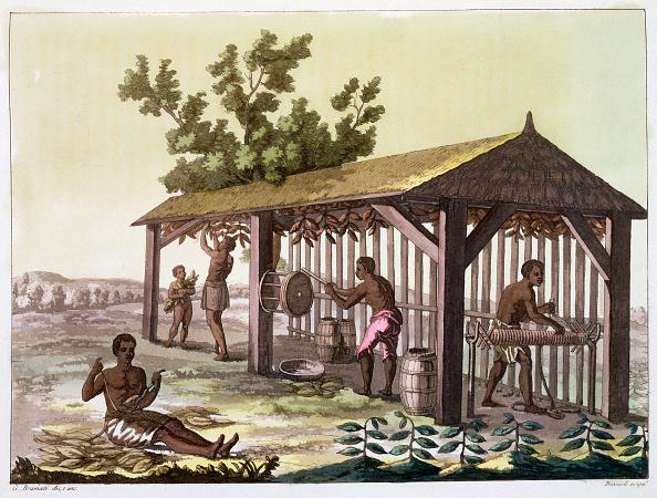 18th Century Style「Slaves Preparing Tobacco Virginia USA circa 1790 (circa 1820-1839)」:写真・画像(1)[壁紙.com]