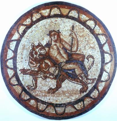 Tiger「Roman mosaic depicting Bacchus, god of wine」:スマホ壁紙(3)