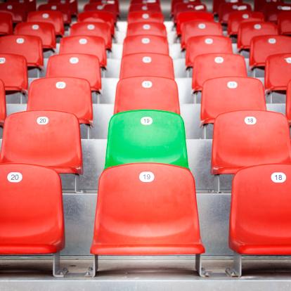 Individuality「Red empty stadium seats」:スマホ壁紙(4)