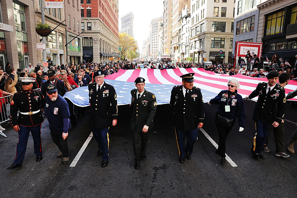Patriotism「New York City Celebrates Veterans Day With Annual Parade」:写真・画像(10)[壁紙.com]
