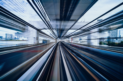 Tokyo Tower「Blurred motion on the Subway in Tokyo」:スマホ壁紙(15)