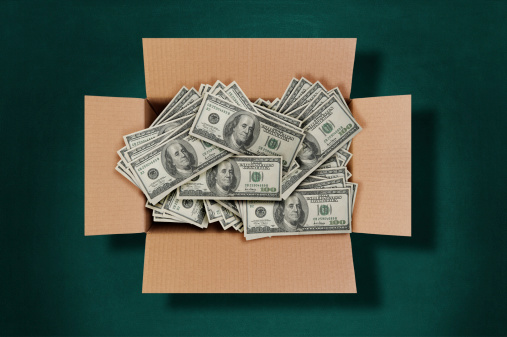 American One Hundred Dollar Bill「Cardboard Box Full of Money」:スマホ壁紙(1)