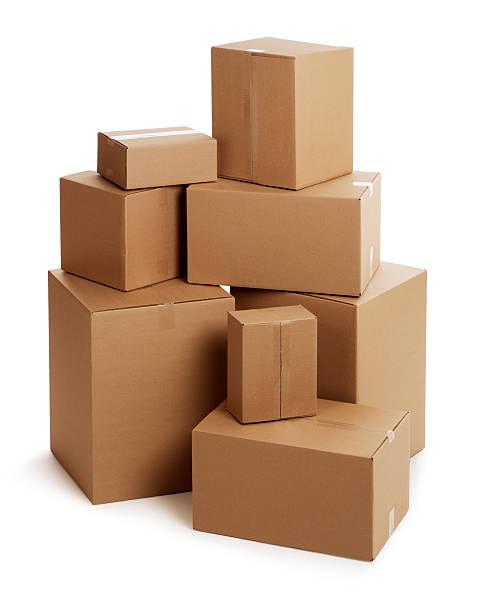 Cardboard Boxes on White:スマホ壁紙(壁紙.com)