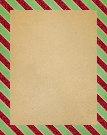 Christmas Paper「paper with striped glitter border」:スマホ壁紙(15)