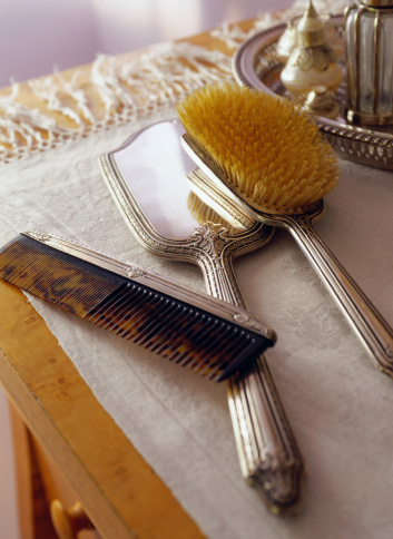 Hand Mirror「Antique Comb, Brush and Mirror Set」:スマホ壁紙(19)