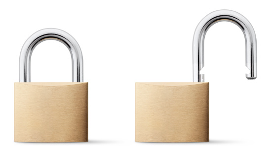 Two Objects「Padlock open and closed.」:スマホ壁紙(12)