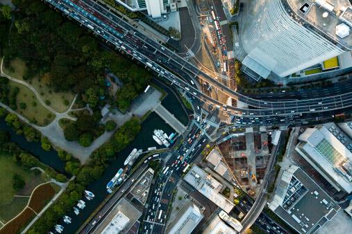 Shinbashi - Tokyo「Japan, Tokyo, Shiodome, aerial view」:スマホ壁紙(12)