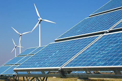 Power Equipment「Solar panels and wind turbines」:スマホ壁紙(15)