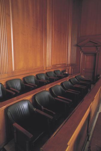 Legal System「Empty jury box in courtroom」:スマホ壁紙(15)