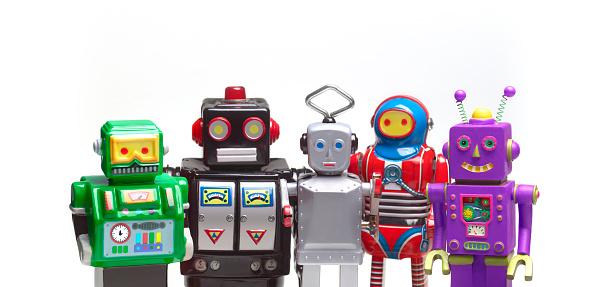 Five Objects「Crowd of robots」:スマホ壁紙(5)