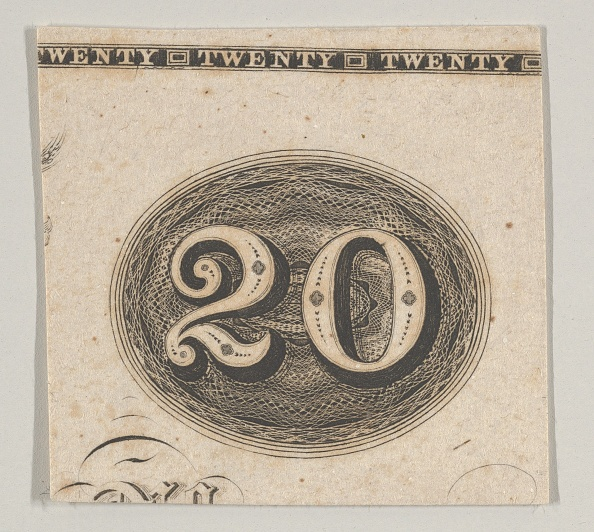 Number「Banknote Motif: The Number 20 Against An Ornamental Lathe Work Oval Resembling Wove」:写真・画像(16)[壁紙.com]