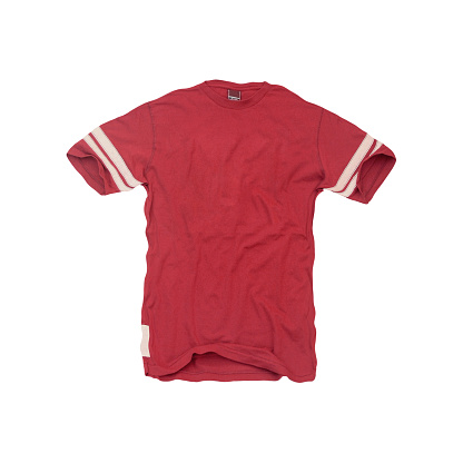 Scratched「Vintage-Red Football Jersey - Blank」:スマホ壁紙(7)