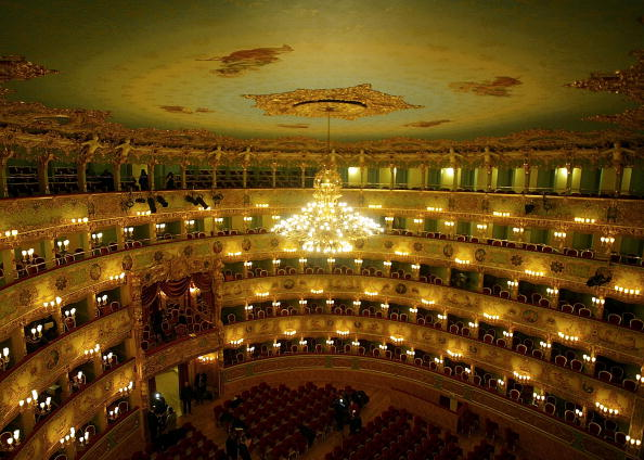 General View「Famous Theater La Fenice Reopens In Venice」:写真・画像(0)[壁紙.com]